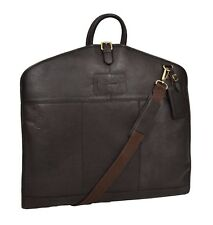 Luxury Leather Suit Carrier Bag Brown Suiter Case Dress Garment Cover Travel Bag