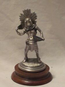 HOPI KATCHINA Polland Chilmark Fine Pewter 596 statue w/ wood base