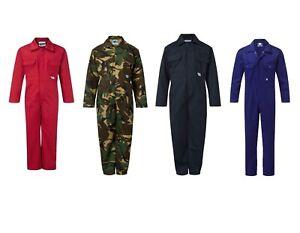Kids Overalls Age 1-14  Boys Blue Castle Boilersuit Coveralls Workwear Camo UK