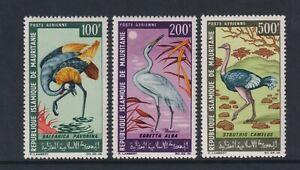 Mauritania - 1967 , Aire. Aves Juego - MNH - Sg 265/7