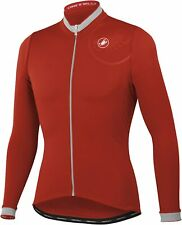 Castelli Men's GPM Long Sleeve Full Zip Cycling Jersey - Red (Small)