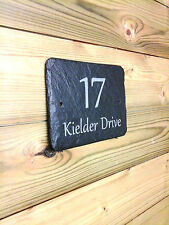 Personalised Rustic Slate House Name Door Gate Number Sign Plaque 180mm X 120mm