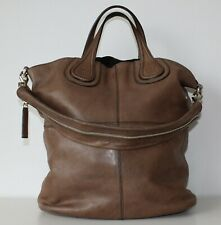 Givenchy Nightingale Shopper Tote Bag in Taupe Lambskin Leather Authentic