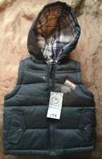 Baby Boy Hooded Jacket, Gilet, Padded, 0 to 3 months. Matalan