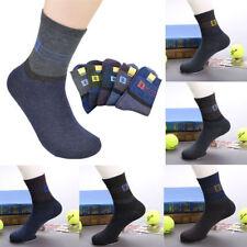5 Pairs Winter Wool Cashmere Socks Men's Casual Deodorant Socks Thicker Socks
