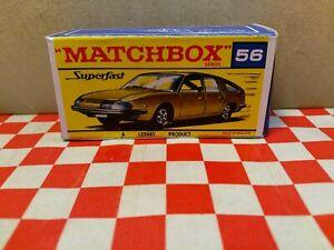 Matchbox Superfast No56 BMC 1800 Pininfarina EMPTY Repro box Only  NO CAR