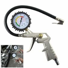 Tyre Inflator Tire Pump With Pressure Gauge Compressor Air Flexible Hose Tool Q9