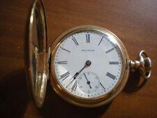 Antique Waltham AWW Gold Filled Pocket Watch 15J Hunter 12S Model 1901, Serviced