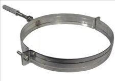 COLLARE in acciaio inox 304 REGGITUBO per CANNA FUMARIA tubo fumo camino stufa