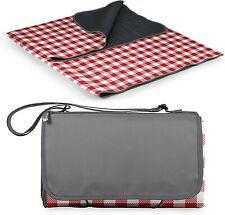 Oniva Outdoor Picnic Blanket with Tote Xl, Red/White/Gray Checkered Pattern Nwot