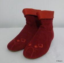 LITTLE MARC JACOBS - Boots Bottines 37 cuir daim rouge  souris brodée
