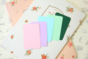Mini Business Cards 50pc blank Spring colours DIY escort cards craft name cards