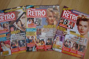 Yours Retro Movie Film Magazine 3 Recent Copies Excellent Unmarked Condition.