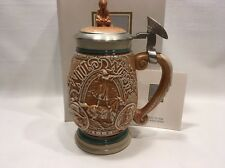 New In Box Avon Tribute To The Wild West Stein Beer +COA Native American Indian