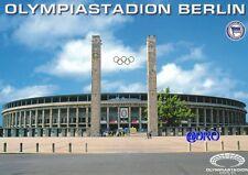 Postkarte + Hertha BSC Berlin + Olympiastadion + # 2 + Hochglanz Frontaufnahme