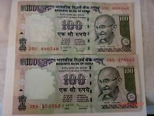 - India Paper Money- Two Old 'M.Gandhi' Notes-Rs.100/- 2009-One Signatory#E24v