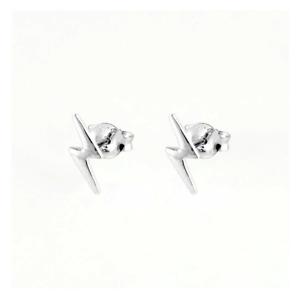 925 Sterling Silver Lightning Bolt Stud Earrings