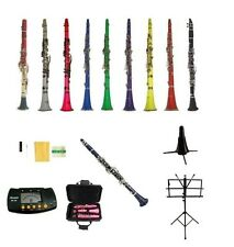 New Merano Clarinet+2 Stands,Tuner~Black White Red Pink Blue Purple Green Yellow