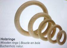 (0,40€/St.) 5x Holz-Ringe, 35x7mm, Buchenholz, natur