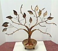 "Ancient Graffiti metal Tree. 18"" x 20"". in bowl with feet. Made in India"