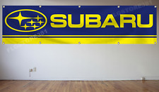 Subaru Banner Flag 2x8ft Car Racing Banner Wall Decor Garage Shop Man Cave