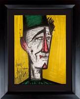 "Bernard BUFFET Original LITHOGRAPH ""... Clown"" 1967 Limited EDITION w/Frame"