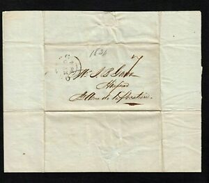 """QUEBEC MAY 20, 1834, LETTER W """"7"""" SENT TO JEAN B GARON STE-ANNE-DE-LA-POCATIERE"""