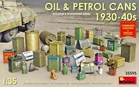 MINIART 35595 - 1/35 - OIL & PETROL CANS 1930-40s WW II Plastic model kit