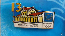 COUNTDOWN 13 MONTHS TO GO (ENGLISH) TRAIN STATION - ATHENS 2004 OLYMPIC PIN
