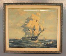 "Gordon Grant 1927 Ship Watercolor Painting Print 16""x 20"""
