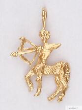 Sagittarius Archer Zodiac Charm Pendant 24k Yellow Gold Plated Astrological Sign