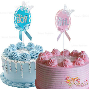 IT'S A BOY / IT'S A GIRL CAKE TOPPERS BABY SHOWER CAKE TOPPERS