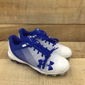 Under Armour UA Leadoff Low RM Baseball Cleats Shoes Blue White 1297316-411