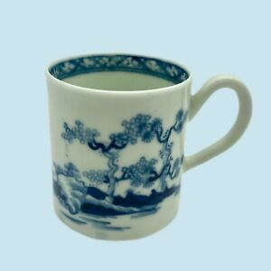Early Worcester Porcelain Coffee Can, Cannonball Pattern, C1770