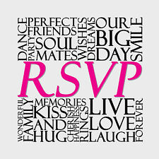 Wedding Invitation RSVP Reply Cards also ideal for same sex 10pk FREE POST