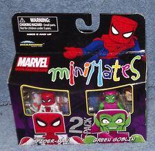 MINIMATES MARVEL UNMASKED SPIDER-MAN & GREEN GOBLIN SET 2011