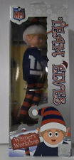 "New York Giants NFL TEAM Logo Elves Elf Christmas decor 9"" Blue Red Forever Xmas"