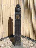 Pi Yao Wächterlöwe Naturstein Stele Säule China Drache Garten AsienLifeStyle