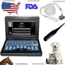 Veterinary Ultrasound Scanner Vet Laptop Machine Rectalmicro Convex Probe New