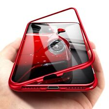 For iPhone Xs Max Magnetic Adsorption Tempered Glass Case Cover