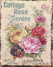 COTTAGE ROSE GARDEN  ADVERT RETRO VINTAGE STYLE SMALL pub bar shed gardening