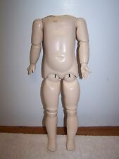 """Antique Reproduction Doll Body Ball Jointed AS IS Needs TLC 15"""""""
