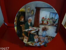 BRADFORD EXCHANGE ROYAL DOULTON  OLD COUNTRY CRAFTS  THE EMBROIDERESS  PLATE
