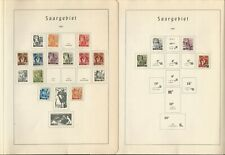Germany Stamp Collection 1947-55 on 14 Lighthouse Pages, Saar, DKZ