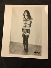 Vtg 50's Busty Brunette Apartment Leather BDSM Nude Tied Up Risque Pinup Photo