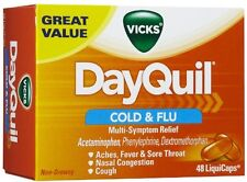 Vicks Dayquil Cold & Flu Multi-symptom Relief Liquicaps, 48 Each