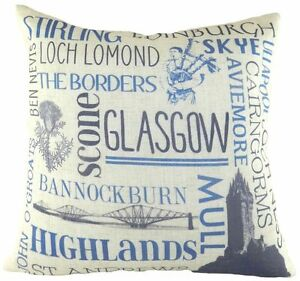 """17"""" Scotland Cushion Evans Lichfield DPA681 43cm UK Glasgow Edinburgh Scottish"""