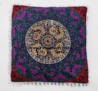 """16"""" MULTICOLOR INDIAN MANDALA CUSHION PILLOW COVER LARGE ETHNIC HOME DECOR THROW"""