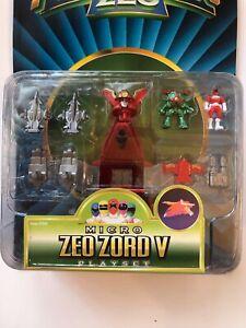 Power Rangers Zeo Micro Zord V Playset New On Card 1996 Red Ranger Bandai