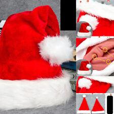 1Pc Unisex Kid Christmas Santa Headgear Plush Thick Hat Home Party Costume Decor